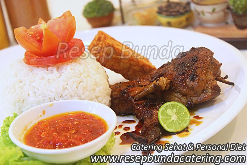 Menu Catering Nasi Box : Ayam Bakar