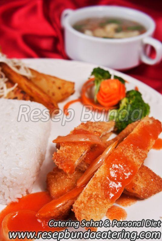 Menu Catering Nasi Box : Chicken Katsu