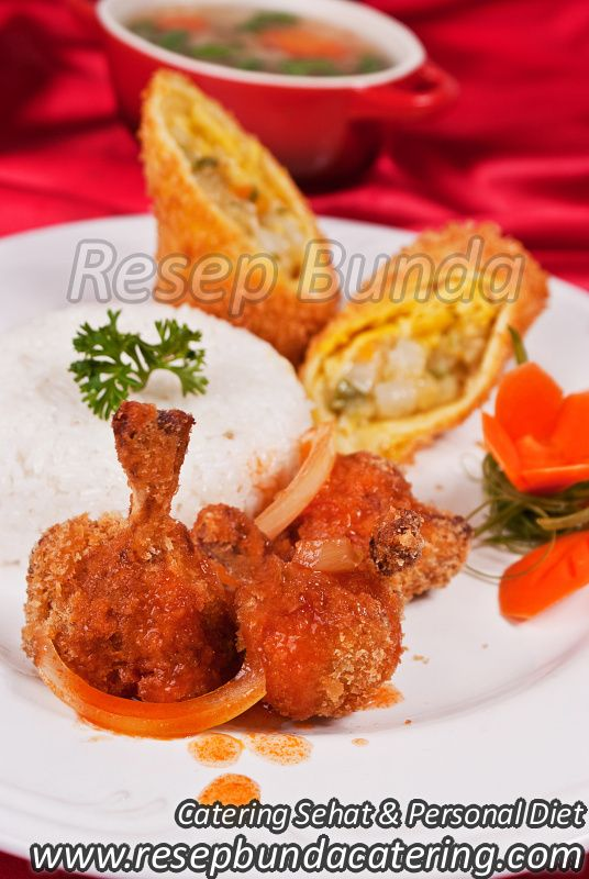 Menu Catering Nasi Box : Drumstick Chicken