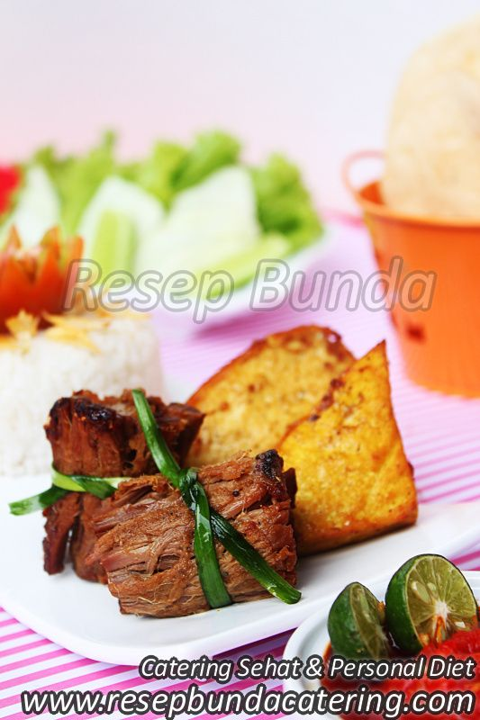 Menu Catering Nasi Box : Gepuk Gulung