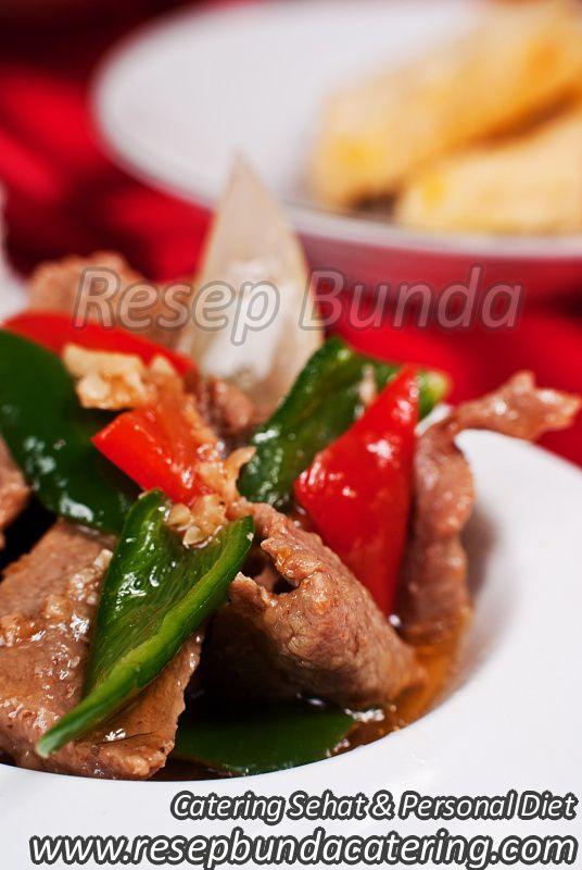Menu Catering Nasi Box : Sapi Cah Paprika
