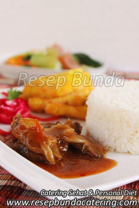 Menu Catering Nasi Box : Semur Sapi