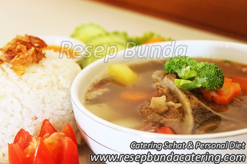 Menu Catering Nasi Box : Sop Buntut