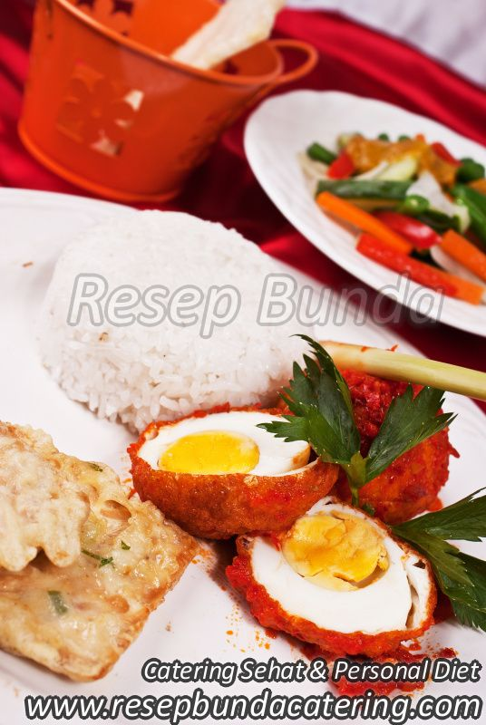 Menu Catering Nasi Box : Telur Balado