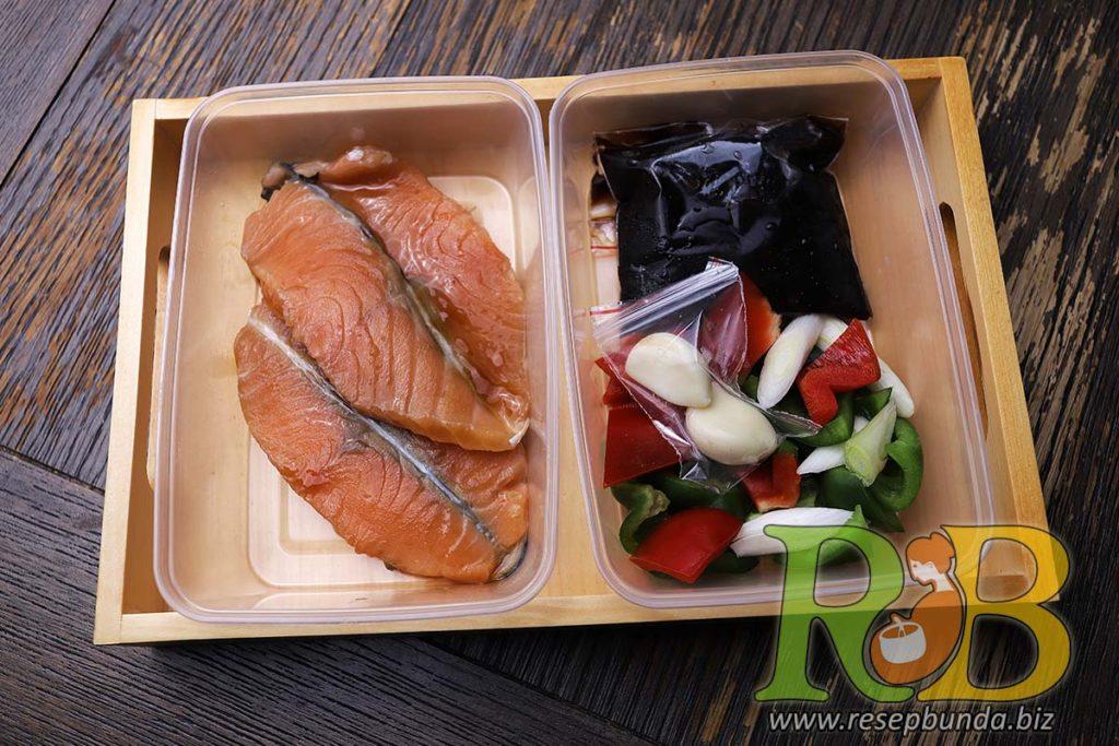Paket Masak Kemasan Bandung Siap Saji - Salmon Teriyaki